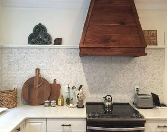 Custom Range Hood Reclaimed Wood