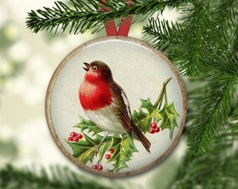 "3.5"" holiday magnets - christmas bird ornaments for tree - christmas tree decor ideas - christmas refrigerator magnets MA-HOL-20"