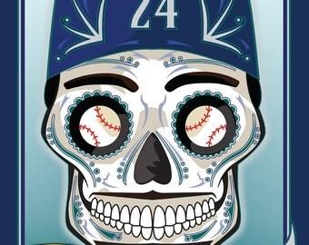 Ken Griffey Jr. Mariners Sugar Skull Print 11x14