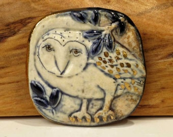 Blue-Grey Owl - pin