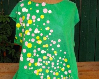 Flash Dance Style 80's Green T shirt