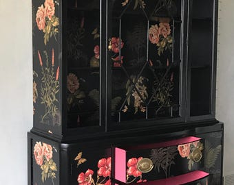 Beautiful floral china cabinet