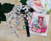 Full-Size Miraculous Medal Catholic Rosary - Heirloom Rosary - Women's Rosary - Our Lady of Grace Rosary