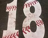 Dirty Baseball Number Tank, Baseball Number Shirt, Baseball Shirt, Personalized Baseball Mom Shirt, Woman's Baseball Shirt, Baseball Mom
