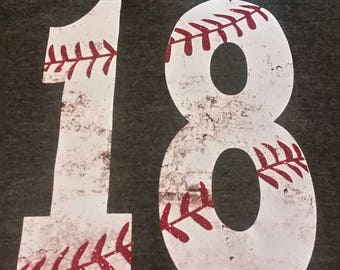 Dirty Baseball Number Tank, Baseball Number Shirt, Baseball Shirt, Personalized Baseball Mom Shirt, Woman's Baseball Shirt, Baseball Mom