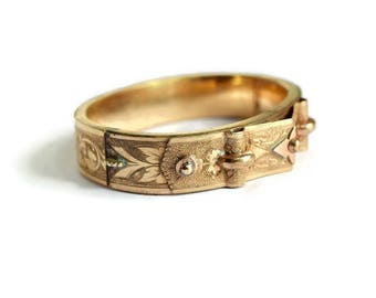 Victorian Hinged Bangle Bracelet  c.1900