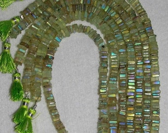AB, AB Prehnite, AB Prehnite Heishi, Green Prehnite, Green Heishi, Natural Stone, Semi Precious, Sparkle, Full Strand, 5-6mm, AdrianasBeads