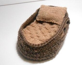 Moses Basket, Brown Doll Carrier, 5 Inch Doll Basket, Moses Basket Set