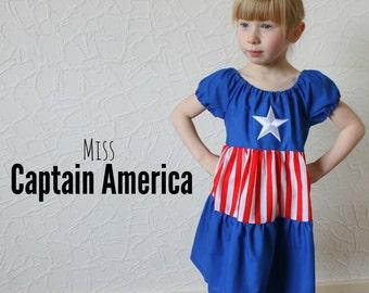 Miss Captain America style - Marvel Inspired Dress