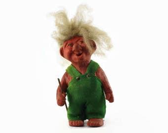 Vintage Troll Doll, Norwegian Troll, Large Troll Doll, Troll Figurine