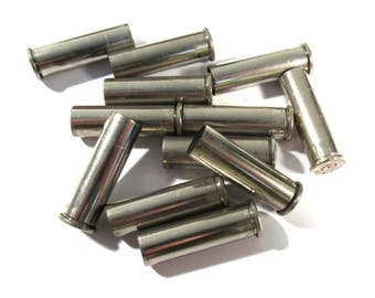 Silver Bullet Casings 357 Mag Twelve (12) Bullets Art Jewelry Supplies Ammo BULLETS Empty Brass Rounds Empty Cases Reloads (M114)