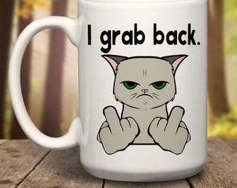 Democrat Coffee Mug, trump grabs mug, Redneck Mug, Redneck Gift, republican Mug, Funny Political Mug, Gun Control, NRA, Gun Enthusiast Mug,