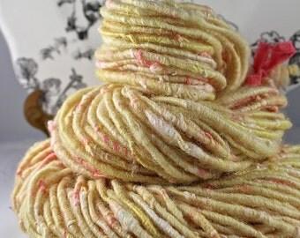 Handspun Art Yarn Corespun Fleecespun Sheeping Beauties 'Angels Flight'
