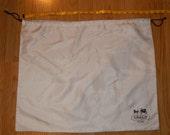 COACH Off White Dust Bag Cover Nylon Satin Drawstring 19 1/2 x 23 1/2 inch