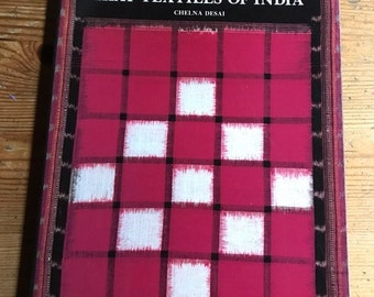 1988 Ikat Textiles of India vintage paperback textile design fabric history of