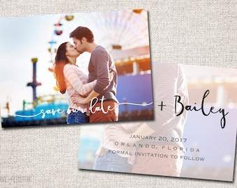 Save the Date, Photo Save the Date, Wedding, Save the date Card, Save the Dates, Modern Save the Date card: PRINTABLE (Save Our Date)