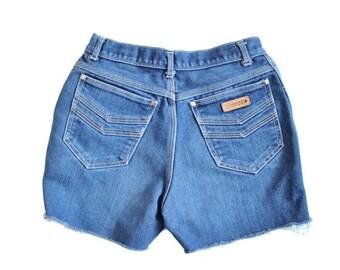 50% half off sale // Vintage 80s GITANO Cut Off Denim Shorts - Women Small