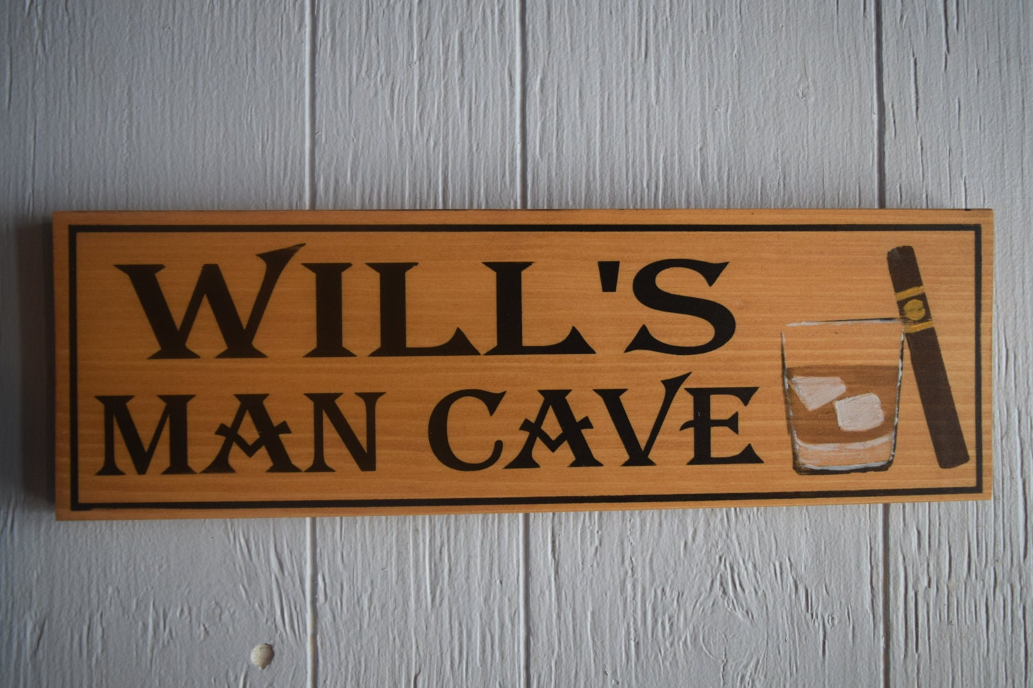 Man Cave Gifts For Him : Man cave sign personalized