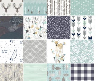 Baby Quilt- Woodland Theme Nursery- Baby Blanket- Custom Quilt- Choose Your Prints