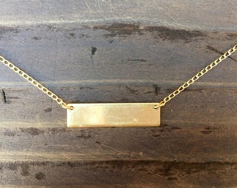 Blank Brass Bar Necklace - Select your Finish