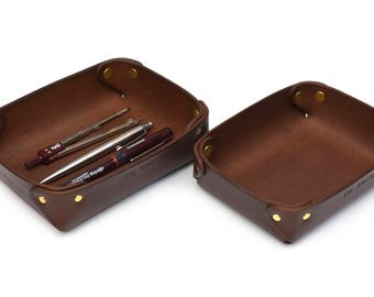 Leather Valet tray // Catch-all tray // Accessories storage // DE BRUIR