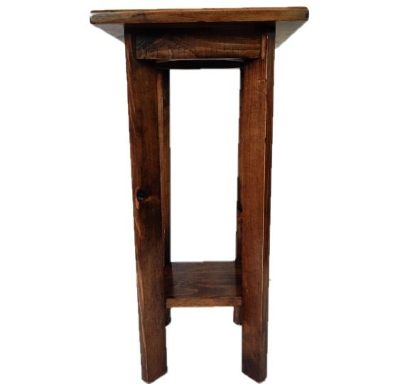 end table,small wooden table,entryway table,bedside table,side table,phone table,plant stand,small square table,little table,wood table