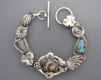 Three Opals with Flowers 2