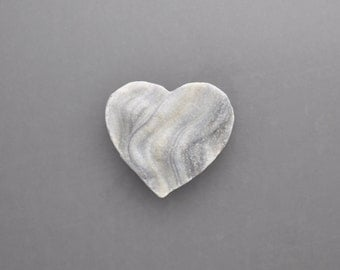 Natural Chalcedony Drusy Heart