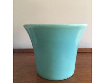 SALE! mid-century teal planter