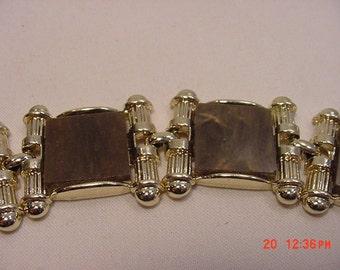 Vintage Square Brown Cabochon Bracelet   16 - 624