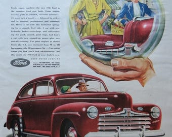 Going Out Of Business Vintage Magazine Ad 1945-Paper-Ephemera-Ads-FORD