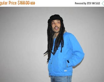 On SALE 40% Off - Rare Men's Vintage 1990s The North Face Blue Corduroy Collar Winter Puffer Ski Jacket - VTG The North Face Jackets - MV002