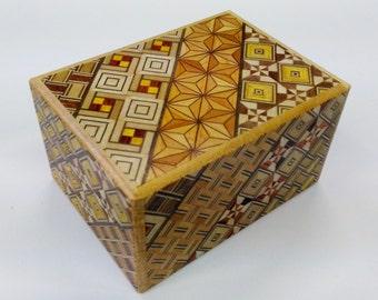 Japanese Puzzle box (Himitsu bako)- 3.5inch (90mm) Standard 12steps Yosegi