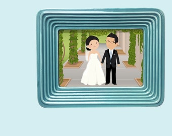 Custom Cartoon Wedding Portrait