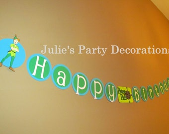 Peter Pan Birthday Banner