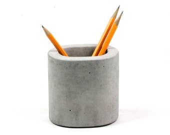 Concrete Pencil Holder, Toothbrush Holder