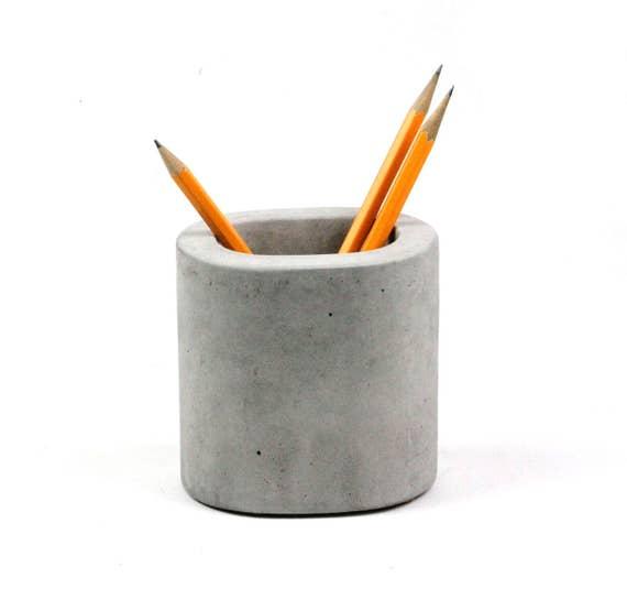 Concrete Pencil Holder Toothbrush Holder