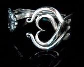 Recycled Silver Fork Bracelet in Original Heart Design Number Three