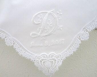 Personalized Handkerchief, Wedding Hankie, Personalized Wedding Handkerchief, Monogrammed Handkerchief
