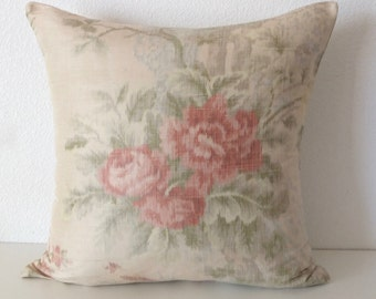 20x20 Antique Satin Shabby Chic Floral Rose Pillow Cover