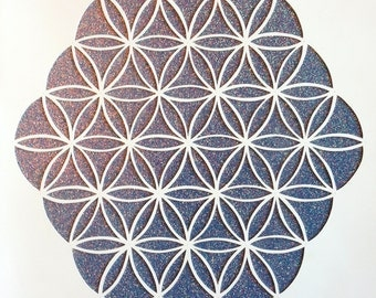 original papercut mandala moon dust