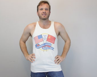 Vintage 90s Goodwill Games Seattle and Soviet Union 1990 Tank top
