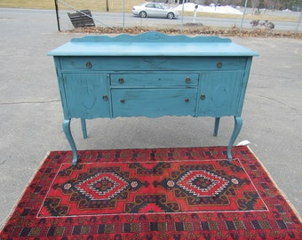 Antique sideboard cottage style totally teal