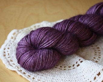 Hand Dyed Yarn / Fingering Weight / Purple Grape Violet Candied Violets / Alpaca Cashmere Silk Luxurious Luxury Super Soft
