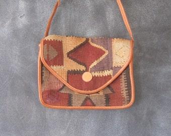 Turkish Kilim Clutch Cross Body Bag Hippie Boho Ethnic Bag