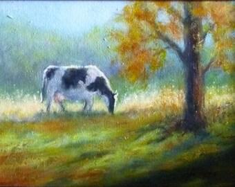 Grazing 5x7 oil painting Alexandra Kopp