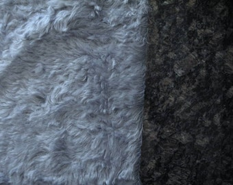 "9"" x 13.5""- Medium Density Mohair with Curly Finish - 3/4"" pile PALE SLATE BLUE color cheswickcompany"