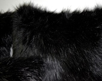 Luxurious Black Faux Fur Pillow