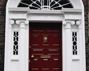 Ireland-Dublin-Doors of Dublin-Red Door- Fine Art Photography