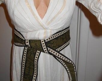 VINTAGE 1960S SASH  south american handwoven fringed xtra long sash hippie boho